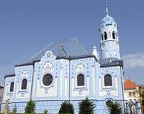 La iglesia (azul) del St Elisabeth del art déco en Bratislava Imagenes de archivo