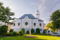 La iglesia azul en Bratislava Imagen de archivo