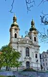 La iglesia barroca del St Mary Magdalene, Karlovy varía Foto de archivo libre de regalías