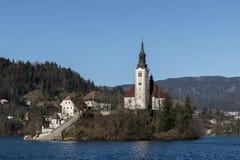 La iglesia Bled Imagenes de archivo