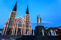 La iglesia católica Chanthaburi Fotos de archivo libres de regalías