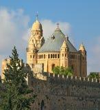 La iglesia católica de Dormition en Jerusalén Imagenes de archivo