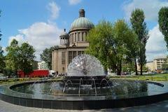 La iglesia católica en Lodz Foto de archivo libre de regalías