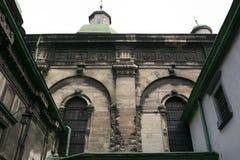 La iglesia cristiana vieja en Lviv Foto de archivo libre de regalías