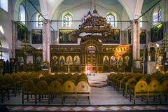 La iglesia de Agios Titos en la ciudad de Heraklion, Creta fotos de archivo libres de regalías