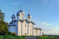 La iglesia de Boris y de Gleb, Veliky Novgorod, Rusia Fotos de archivo libres de regalías