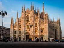 La iglesia de la catedral de Milán imágenes de archivo libres de regalías