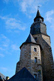 La iglesia de Dinan Imagen de archivo libre de regalías