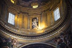 La iglesia de Gesu en Corso Vittorio Emanuel 2 en Roma Italia Foto de archivo libre de regalías