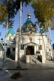 La iglesia de la intercesión en la ciudad de Biysk imágenes de archivo libres de regalías