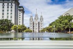 La iglesia de Jesus Christ del templo moderno de los santos Fotos de archivo