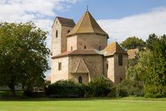 La iglesia de la abadía en Ottmarsheim, Francia Foto de archivo libre de regalías
