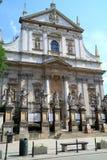 La iglesia de la ciudad Kraków de San Pedro y de San Pablo en Polonia Imagen de archivo libre de regalías