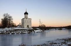 La iglesia de la intercesión en el Nerl Imagen de archivo libre de regalías