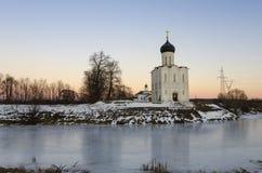 La iglesia de la intercesión en el Nerl Imagen de archivo