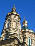 La iglesia de Lazarus cuatro la iglesia Lazarevskoe, iglesia del cementerio de Lazarevskoe, iglesia del nombre completo en honor  Fotos de archivo