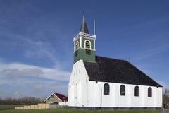 La iglesia de los marineros en Oudeschild en Texel. Imagen de archivo libre de regalías