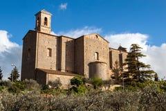 La iglesia de los santos Giusto y Clemente en Volterra Fotos de archivo