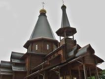 La iglesia de madera Imágenes de archivo libres de regalías