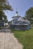 La iglesia de madera del santo Mykola Imágenes de archivo libres de regalías
