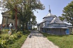 La iglesia de madera del santo Mykola Foto de archivo