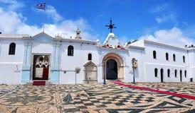 La iglesia de Madonna en la isla de Tinos imagen de archivo