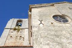 La iglesia de Madre di Sant'Elia en Peschici Imagen de archivo libre de regalías