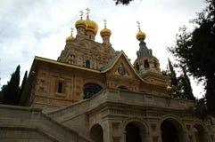 La iglesia de Mary Magdalene en Jerusalén, Israel Imagenes de archivo