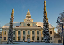 La iglesia de Mustasaari, Finlandia Imagenes de archivo