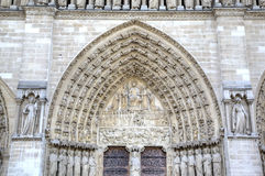 La iglesia de Notre Dame de París Elementos de la decoración París, Francia Foto de archivo