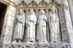 La iglesia de Notre Dame de París Elementos de la decoración París, Francia Fotografía de archivo