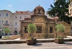 La iglesia de Panaghia Kapnikarea Imágenes de archivo libres de regalías