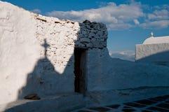 La iglesia de Panagia Paraportiani Imagenes de archivo