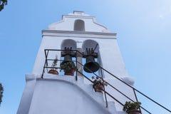 La iglesia de Panagia Vlacherna en la isla griega de Corfú Fotos de archivo libres de regalías