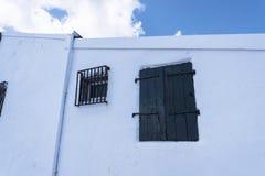 La iglesia de Panagia Vlacherna en la isla griega de Corfú Fotografía de archivo