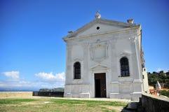 La iglesia de Piran Fotografía de archivo