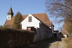 La iglesia de Saint Martin cerca de 1235, Biserica Sfântul Martin, Rumania, Brasov fotos de archivo libres de regalías