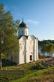 La iglesia de San Jorge en Staraya Ladoga Fotos de archivo