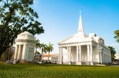 La iglesia de San Jorge - George Town, Penang, Malasia, foto era t Foto de archivo libre de regalías