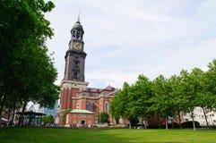 La iglesia de San Miguel en Hamburgo foto de archivo
