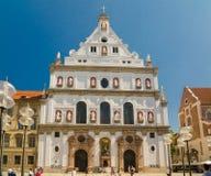 La iglesia de San Miguel es una iglesia de la jesuita en Munich, Alemania meridional Imagen de archivo libre de regalías