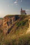 La iglesia de San Miguel se coloca en una alta roca Imágenes de archivo libres de regalías