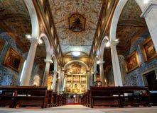 La iglesia de Santa María en Obidos, Portugal Imágenes de archivo libres de regalías