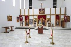 La iglesia de St Cyril y Methodius, Jajinci foto de archivo