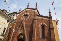 La iglesia de St Dominic, Turín Fotos de archivo libres de regalías