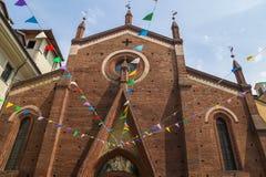 La iglesia de St Dominic, Turín Imagenes de archivo