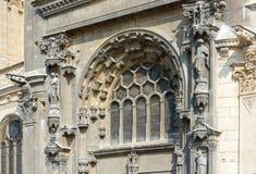 La iglesia de St Eustace, París Imagenes de archivo