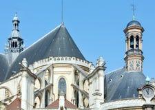 La iglesia de St Eustace, París Imágenes de archivo libres de regalías
