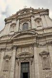 La iglesia de St Ignatius de Loyola en el campus Martius en Roma, Fotos de archivo libres de regalías