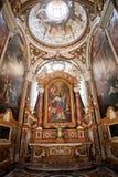La iglesia de St. Louis del francés en Roma Foto de archivo libre de regalías